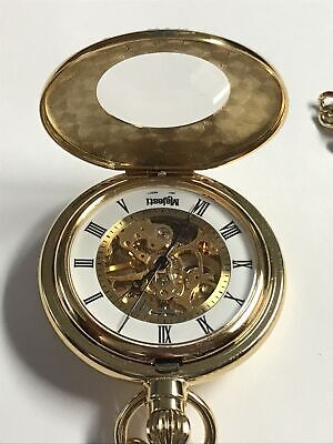 $89.96 • Buy Majesti Gold Plated Pocket Watch Mechanical See Through Wind Up - New Unused