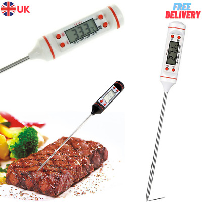 £3.95 • Buy Digital Food Thermometer Probe Cooking Meat Kitchen Temperature BBQ Turkey UK