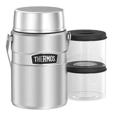 AU79.95 • Buy Thermos 1.39L Insulated Stainless Steel King Big Boss Food Jar W/ Containers SL