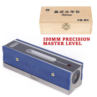 $53.58 • Buy 6'' 150mm Master Precision Level In Fitted Box For Machinist Tool 0.0002''/10''