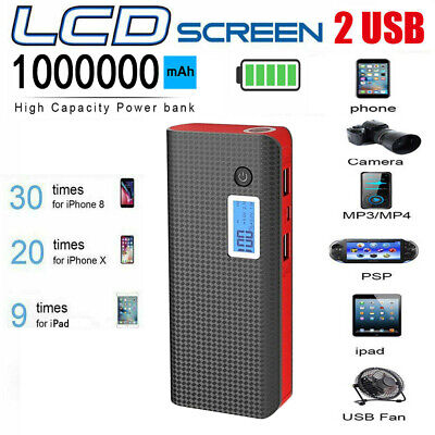 £12.49 • Buy 1000000mAh Power Bank Fast Charging External Battery Pack Portable Charger LED