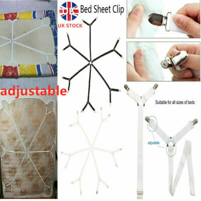 £5.99 • Buy Bed Sheet Grippers Clips Mattress Holders Fasteners Straps Suspender Fitted