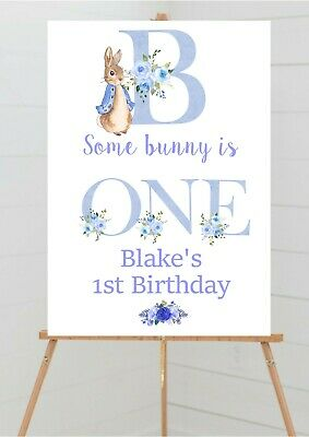 £2.95 • Buy Personalised Peter Rabbit Party Christening Baby Shower Welcome Table Sign