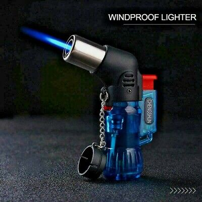 £3.99 • Buy PIPE LIGHTER Windproof ANGLED Jet Flame Blue Flame Refillable Tank UK