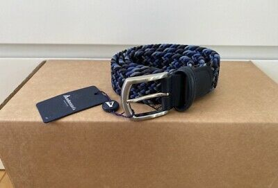£45 • Buy Anderson's Woven Stretch Belt Multi Blue, Size 30, New With Tag's RRP £79
