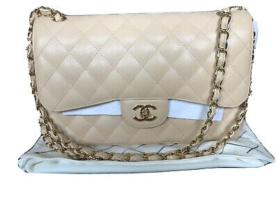 £13250 • Buy Chanel Classic Double Flap Bag, Nude/Beige Caviar Leather