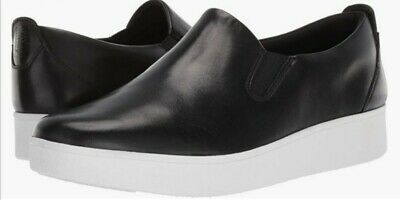 £50 • Buy Fitflop Sania Skates Size 7/41 Black Leather Slip On Shoes Bnwt Free P&p