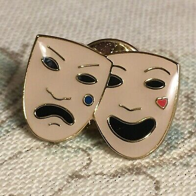 £18 • Buy Burberry Theatre Masks - Comedy And Tragedy Pin *New*