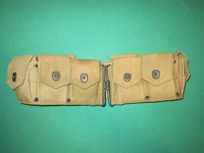 $31 • Buy U.S. Army M1917 Mills Style Pocketed Ammo Belt Plant Brothers & Company Aug 1918