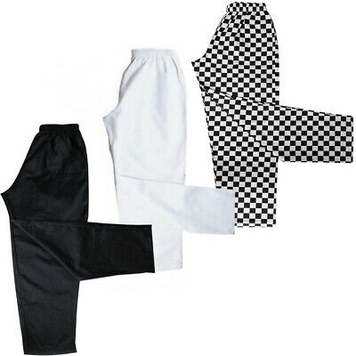 £13.99 • Buy Chef Trousers / Chefs Pants Uniforms Trouser White - Black - Harlequin - Chess