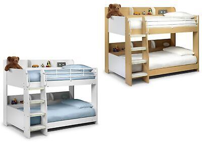£519.95 • Buy Julian Bowen Domino Wooden Bunk Bed Single Frame In Maple & White Or All White