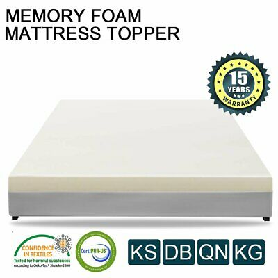 AU68 • Buy Queen King Single Double Bed Mattress Memory Foam Topper COOL GEL BAMBOO Cover