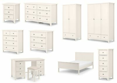 £329.95 • Buy Maine Bedroom Furniture New England Style White Lacquered Finish By Julian Bowen