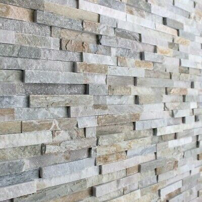 £1.49 • Buy Oyster 3D Split Face Natural Slate Wall Tiles Feature Walls & Cladding - Sample