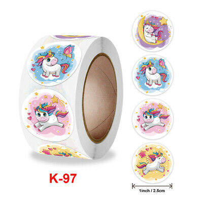 AU5.50 • Buy Unicorn Stickers...50 PACK...Magical Rainbow Party Bag Favours....Treat Boxes-97