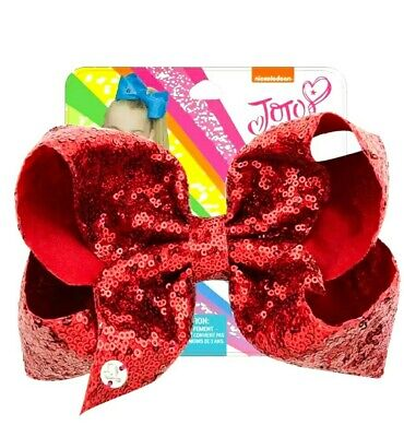 AU13.95 • Buy NEW! Jojo Siwa Bow Large 8  Sequin Bow, Red Party Birthday Bow Sequins✨