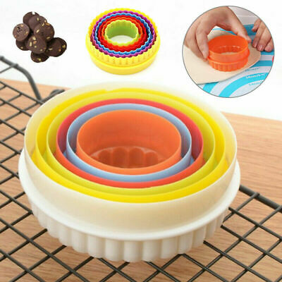 £2.66 • Buy 6 Pack Cookie Scone Cutters Twin Edge Crinkle Round Cake Pastry Tool Bake Mould