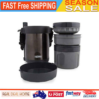 AU103.26 • Buy Thermos 1.3L Stainless Steel Food Storage Container Insulated Jar W/ Chopsticks