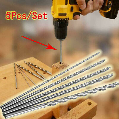 £6.19 • Buy 5* 160mm Extra Long High Speed Steel HSS Twist Drill Bits For Metal Drilling UK