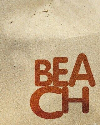 £15.70 • Buy Typography Words Letters - Beach Poster Art Print (20x16in) #116258