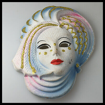£16.92 • Buy Old Rare Vintage Wall Hanging Home Decor Carnival Ball Party Ceramic Mask Face