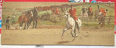 £32.25 • Buy Vintage Wooden Jigsaw -hunting Scene By Lionel Edwards  Complete Good Condition