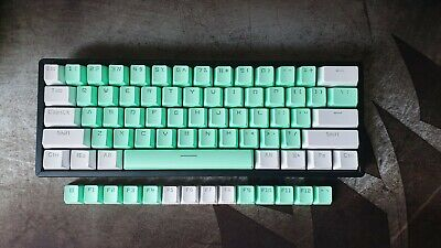 £18.99 • Buy Mint Green And White PBT Keycap Set - Shine Through Double Shot For 60% Keyboard