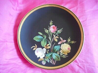 £149.99 • Buy Rare Antique Minton's Hand Painted Cabinet Plate Roses Pink 9.5  - No. 2