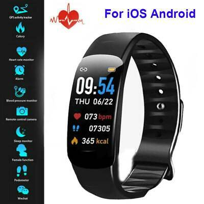 AU18.99 • Buy Waterproof Smart Watch Heart Blood Pressure Rate Fitness For IPhone Android