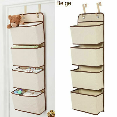 £10.69 • Buy 4-Pockets Home Wall Hanging Storage Bag Closet Door Toy Cosmetic Organizer Pouch