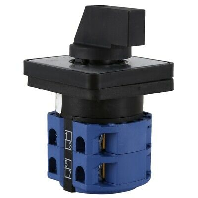 £6.62 • Buy AC660V 25A 2-Pole 3-Position Momentary Plastic Rotary Changeover Switch BlueR2A8
