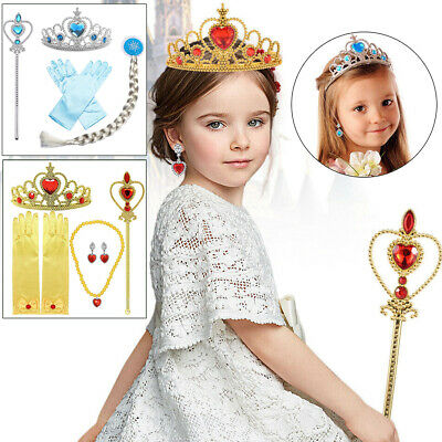 £7.99 • Buy Kids Girls Princess Costume Dress Up Party Accessories Set Gift Belle Cinderalla
