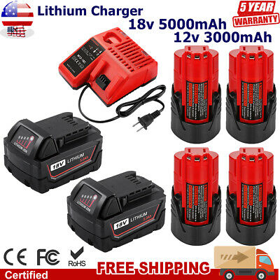 $22.59 • Buy For Milwaukee M12 M18 Lithium XC Extended Capacity Battery Charger 48-11-1860 US