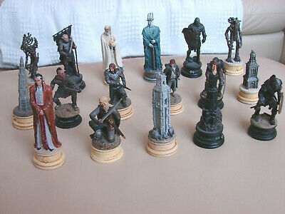 £29.99 • Buy Bundle Of 17 X Eaglemoss Lord Of The Rings LOTR Chess Set Pieces Collection