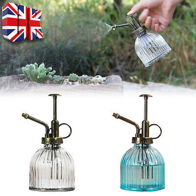 £5.99 • Buy Retro Glass Plant Mister Indoor Watering Can House Water Spray Sprayer Bottle UK