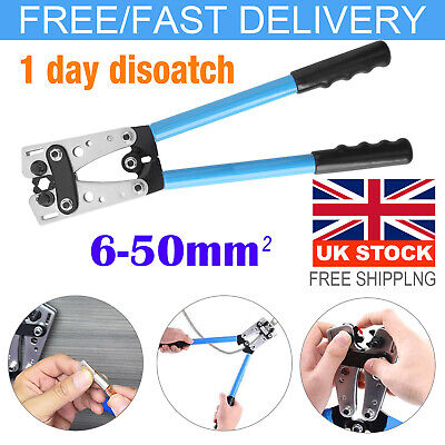 £16.59 • Buy 6-50mm² Durable Terminal Battery Cable Lug Plug Crimper Crimping Hand Tool Plier