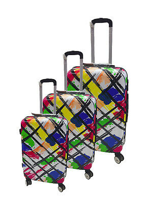 £29.98 • Buy Hard Shell ABS Cabin Suitcase 4 Wheel Travel Luggage Trolley Lightweight Case