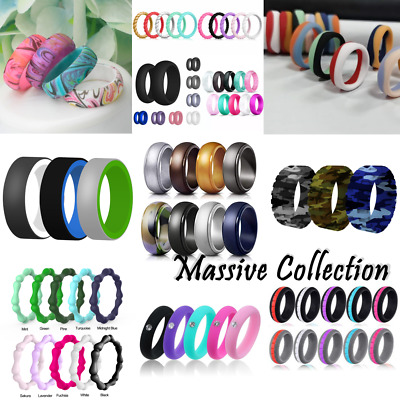£2.49 • Buy Silicone Wedding Ring Engagement Rings Athletic Jewelry Women Men Gift Jewelery
