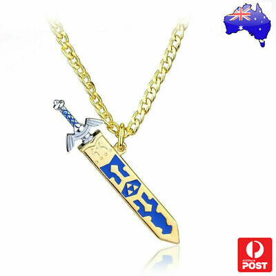 AU12.39 • Buy The Legend Of Zelda Triforce Sword With Quiver Necklace Ocarina Of Time 3D