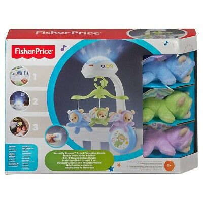 £34.75 • Buy Fisher-Price - 3 In 1 Butterfly Dreams Projection Mobile For Children