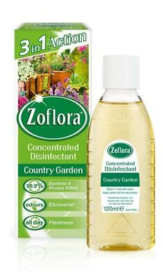 £15.99 • Buy Zoflora 3in1 Country Garden Concentrated Anti Bacterial Disinfectant- 12 X 120ml