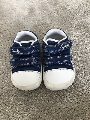 £4.99 • Buy Clarks Doodles Rip Tape First Walker Cruiser Shoes Size 3