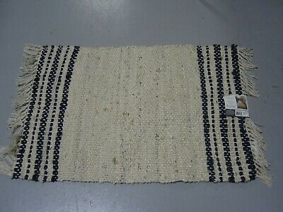 $32.99 • Buy *NEW* Hearth & Hand With Magnolia Charcoal Stripe Jute Rug Size 2' X 3'