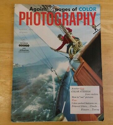 $14.99 • Buy Vintage Again: 16 Pages Of Color Photography   August 1953 Camera Magazine. M14
