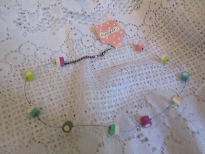 £6.99 • Buy Dolly Mixtures Necklace On Wire - Soft Spongy Feel - 17-18.75  Long - NWT