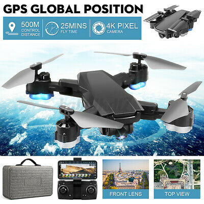 AU130.99 • Buy Drones X Pro With HD 4K Camera GPS Follow Me RC Brushless Wifi FPV Drone + 2BATS