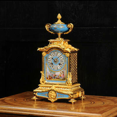 £2995 • Buy Sevres Porcelain And Ormolu Antique French Clock Stunning