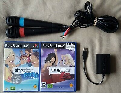 £16.95 • Buy PS2 Game - Singstar Rock Ballads + Party + 2 Wired Microphones + USB Adapter