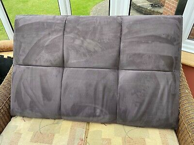 £5.90 • Buy Small Double Bed (4 Foot Wide) Headboard - Suede/velvety Fabric