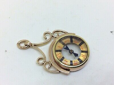 £44.99 • Buy Antique Georgian 9ct Rolled Gold Swivel Compass Watch Fob Chatelaine Pendant